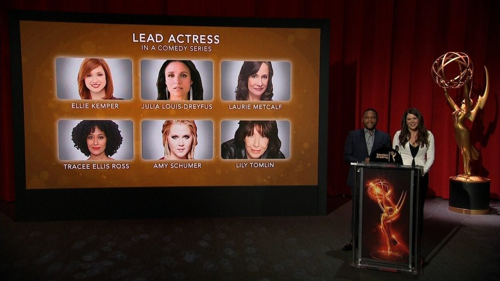 """Nominations for the 68th Annual Primetime Emmy Awards were announced, as """"Black-ish"""" star Anthony Anderson and """"Gilmore Girls"""" star Lauren Graham announce 12 categories."""