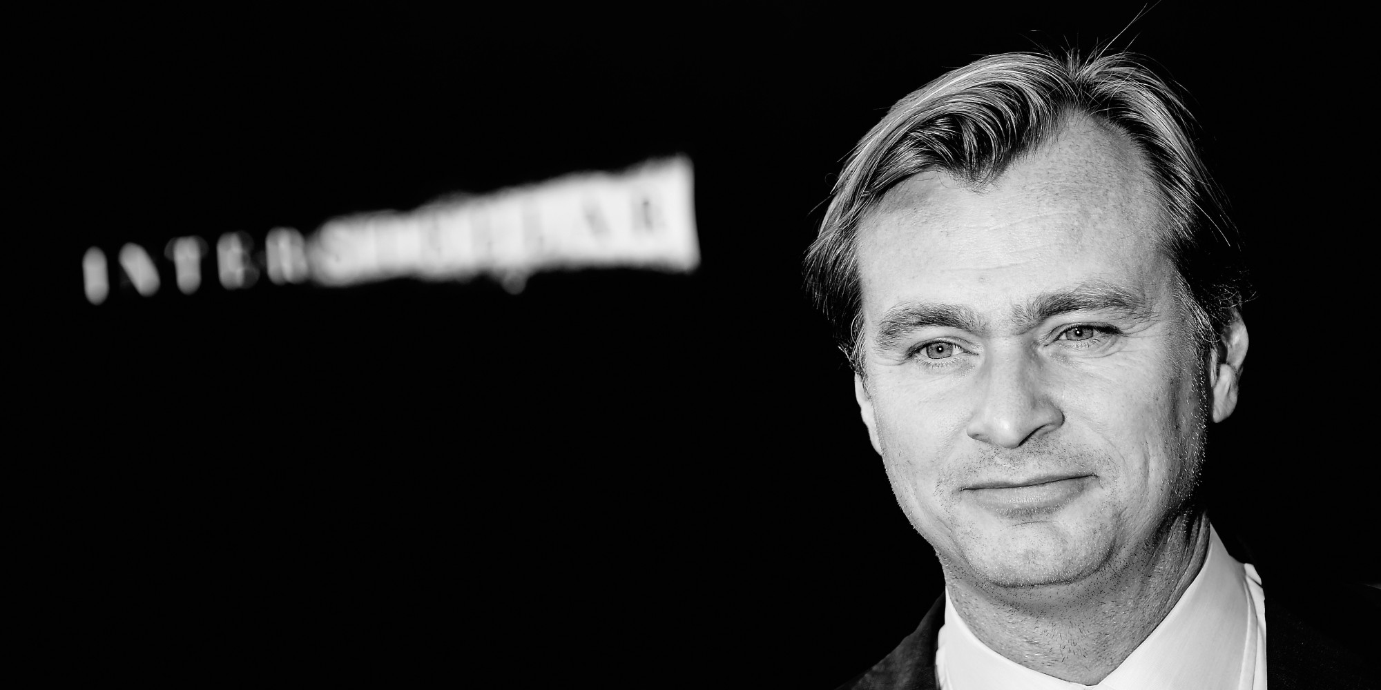 "HOLLYWOOD, CA - OCTOBER 26: (EDITORS NOTE:This image has been converted from color to B/W) Director/writer/producer Christopher Nolan attends the premiere of Paramount Pictures' ""Interstellar"" at TCL Chinese Theatre IMAX on October 26, 2014 in Hollywood, California. (Photo by Frazer Harrison/Getty Images)"