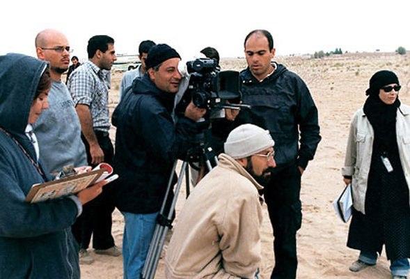 اصغر فرهادی پشت صحنه فیلم رقص در غبار(پاییز ۱۳۸۱)