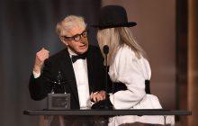 وودی آلن برای احترام به دایان کیتون در مراسم بنیاد فیلم آمریکا AFI ظاهر شد