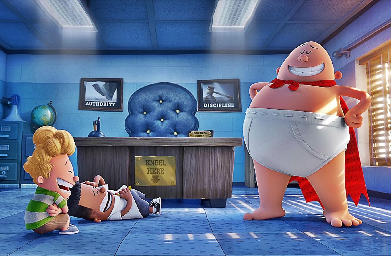 در انیمیشن Captain Underpants: The First Epic Movie چه می‌گذرد؟