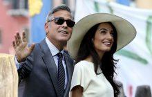 حضور جرج کلونی و همسرش، امل کلونی در جشنواره ونیز