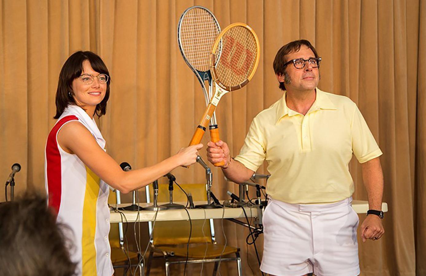 نقد فیلم «نبرد دو جنس»: مسابقهای تاریخی میان دو تنیسباز مشهور