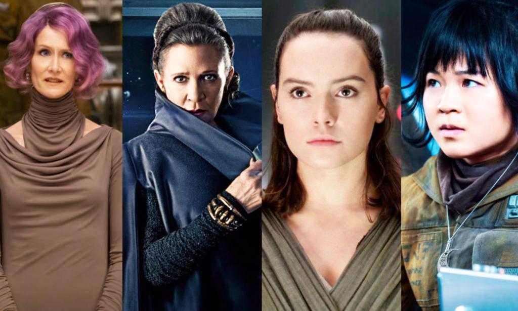 اختصاص داشتن نقشهای اصلی به بازیگران زن در The Last Jedi، برخلاف فیلمهای پیشین Star Wars