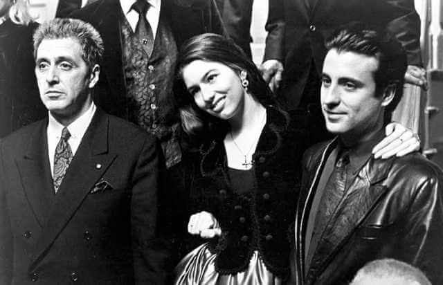 سوفیا کوپولا به همراه پدرش و اندی گارسیا