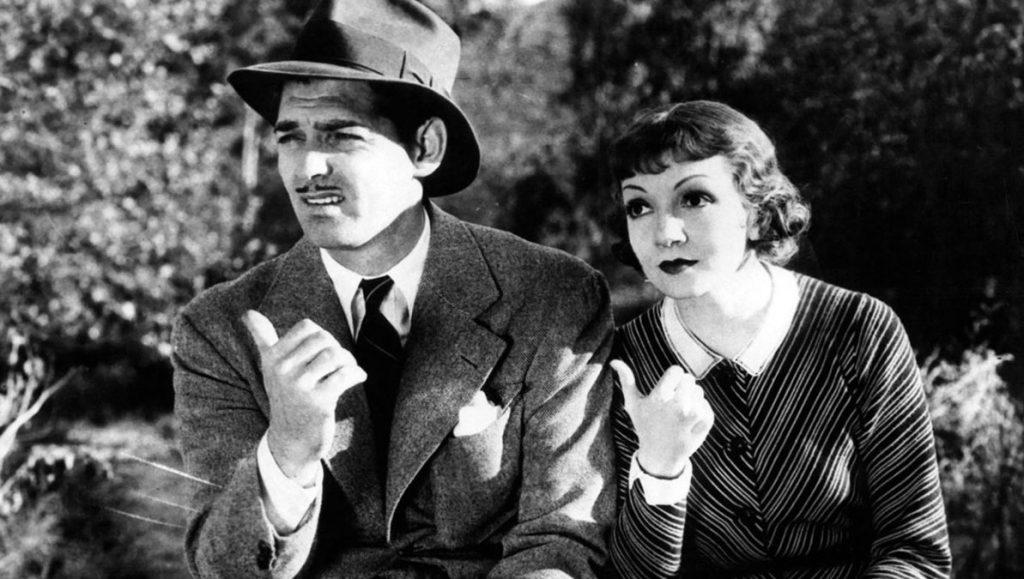 کلارک گیبل و کلودت کولبرت - کمدی رمانتیک