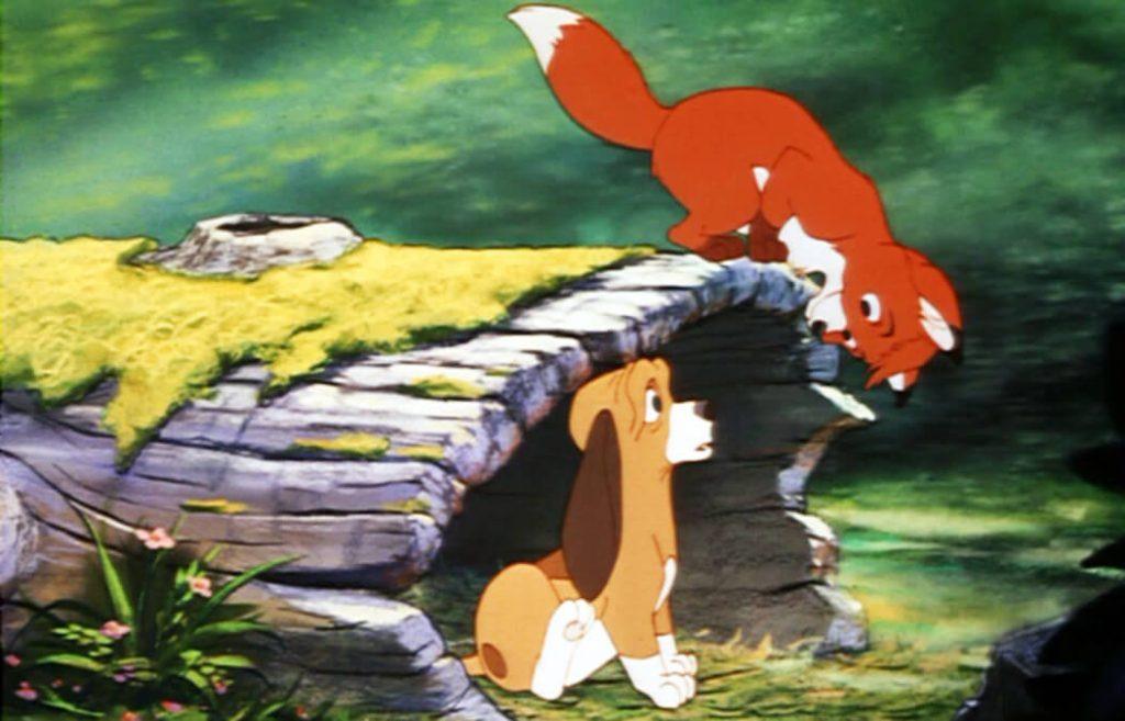 روباه و سگ شکاری