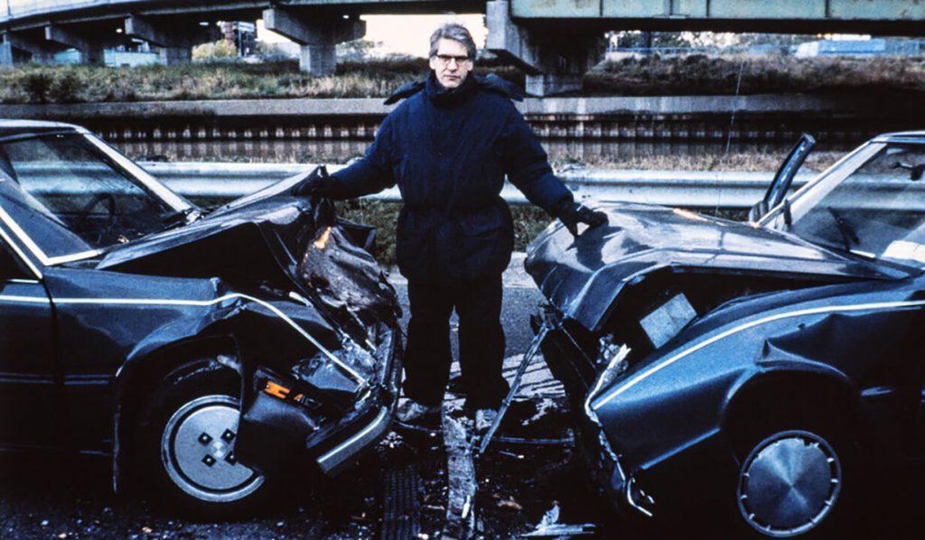 دیوید کراننبرگ سر صحنه فیلم تصادف