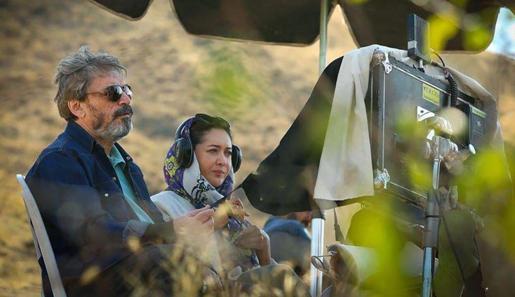 نیکی کریمی در پشت صحنه فیلم آتابای
