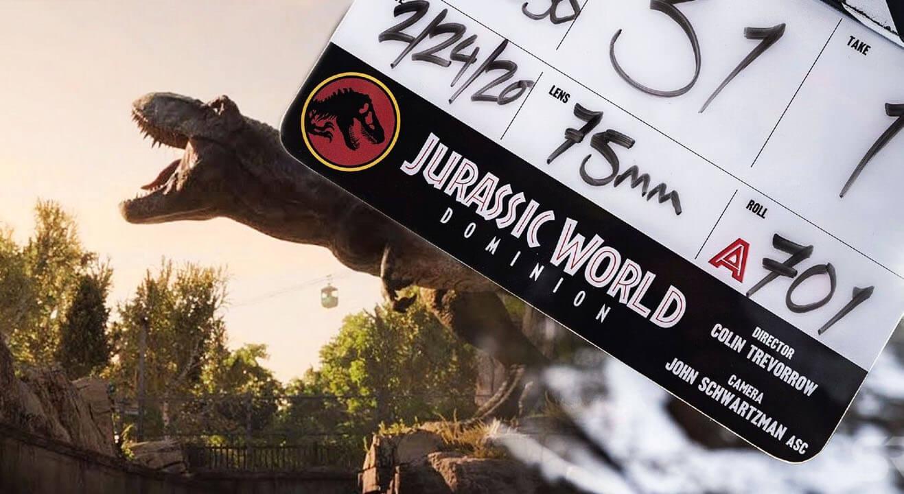 پایان ساخت فیلم دنیای ژوراسیک: قلمرو Jurassic World: Dominion